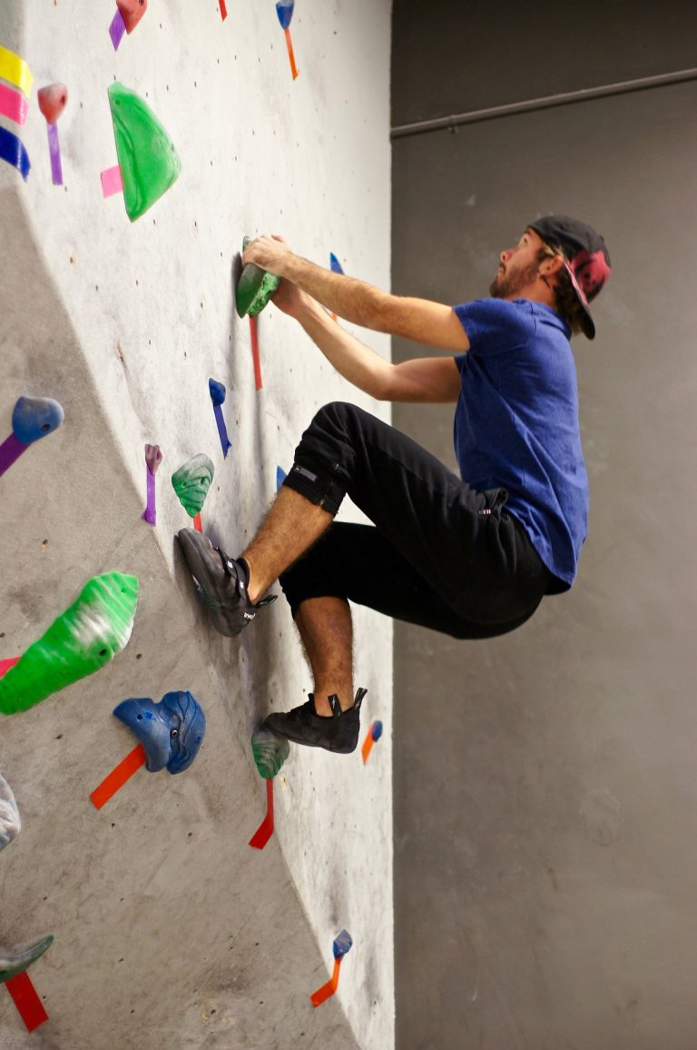 A performance enhancement consultant suggested rock climbing as a fun exercise activity to do on day off from the gym