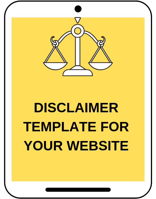 Amira Law's legal bundle includes disclaimer template to legally protect  your website, blog, and online business.